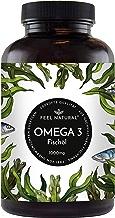 Omega 3 Fischöl Kapseln - 365 Kapseln im Jahresvorrat - Premium, hochdosiert mit 1000mg Fischöl je Kapsel und den Omega 3 Fettsäuren EPA und DHA – aus nachhaltigem Fischfang, ohne unerwünschte Zusätze