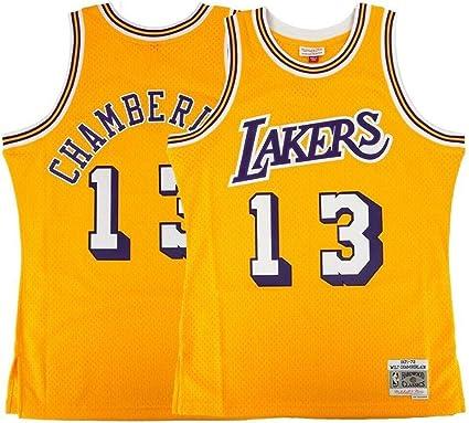 Mitchell & Ness Wilt Chamberlain Los Angeles Lakers 1971-72 Swingman Jersey
