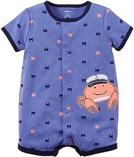 Baby Boys' 1-piece Appliqué Snap-Up Romper (Newborn, Blue...