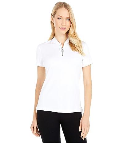 Nike Golf Dri-FITtm Fairway Short Sleeve Polo (White/White) Women