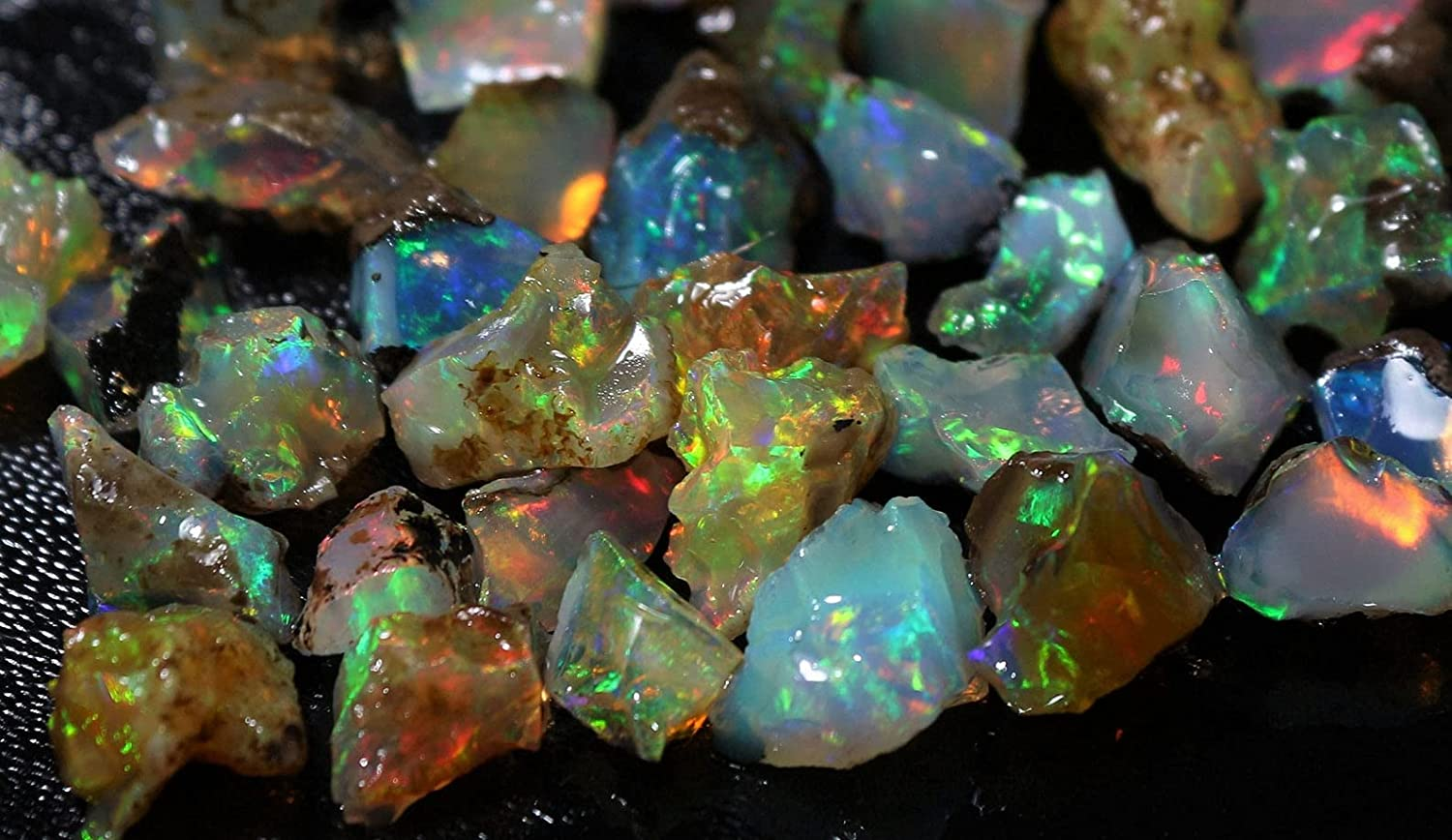 Factory outlet 70Cts. Max 62% OFF Fire Play Opal Rough Gemstone Natural Raw Stone