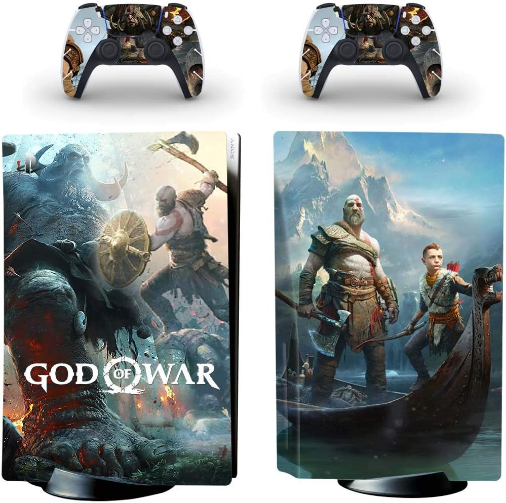 Spirits War Video Game - PS5 Skin Console and 2 Controller, Vinyl Decal Sticker Full Cover Protective