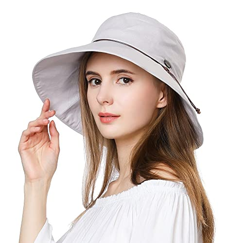 UV50 Foldable Sunhat Women Ponytail Hole Safari Beach Fishing Bucket Hat  55-61CM 2f5595b48c8