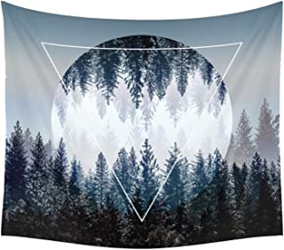 """Sunm boutique Sunset Forest Tapestry Wall Tapestry Tapestry Wall Hanging Tapestry (Sg106, 59.1""""x 59.1"""")"""