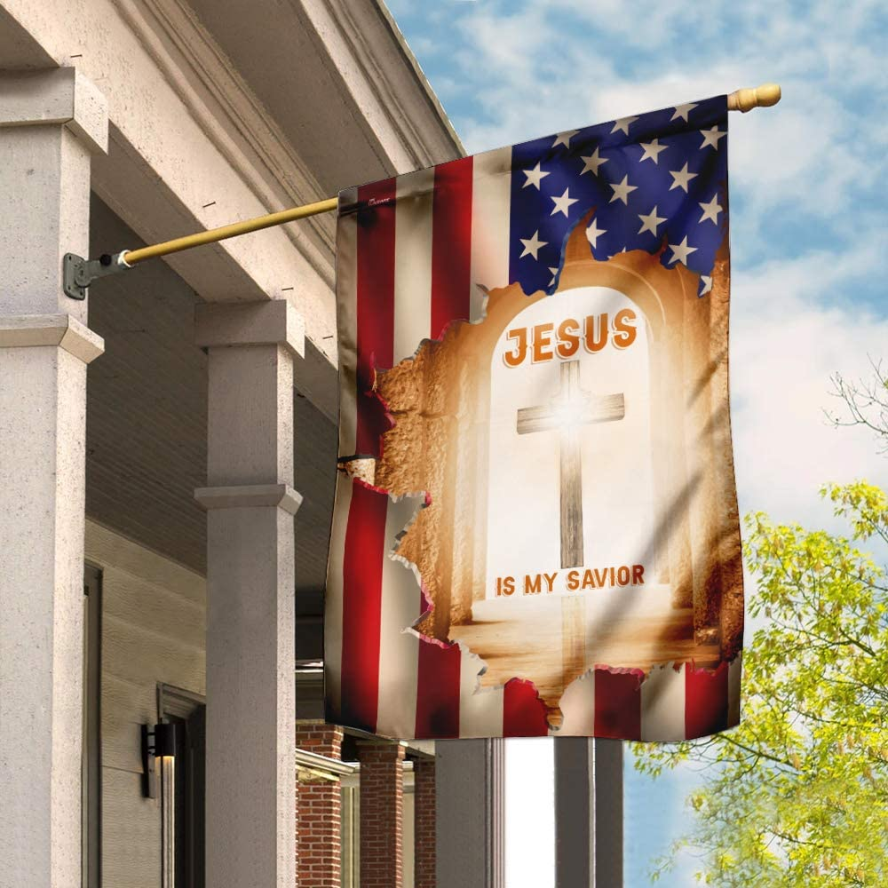 Flags-Jesus is My Savior Christian Cross Flag Complete Free Shipping DBX1607F Fl Max 81% OFF House