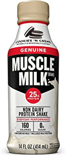 Muscle Milk Genuine Protein Shake, Cookies 'N Crème, 25g Protein, 14 FL OZ, 12 Count