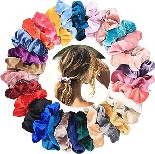 50 Pcs Hair Scrunchies Velvet Elastic Hair Bands Scrunchies Hair Ties Ropes Scrunchies for Women or Girls Simple Charm Style Hair Accessories