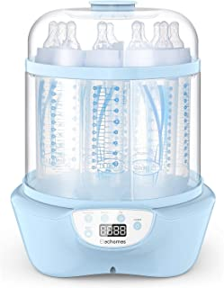 Elechomes Baby Bottle Sterilizer and Dryer, 5-in-1 Multifunctional 600W Electric Steam Sterilizer, Fit for 8-Ounce Dr Brown and Easy to Operate