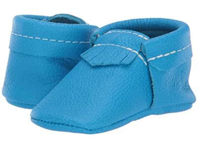 Freshly Picked Soft Sole City Moccasins Out of This World (Infant/Toddler) (Super Neon Blue) Boy