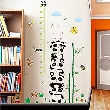 WOCACHI Wall Stickers Decals DIY Cartoon Panda Removable Wall Decal Home Height Sticker Mural Art Home Decor Art Mural Wallpaper Peel & Stick Removable Room Decoration Nursery Decor