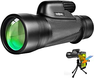 Monocular Telescope - 12X55High Power StarscopeMonocular Telescope with Smartphone Holder, BAK4 Prism &IPX7 Waterproof Monocular for Adults Kids Bird Watching Hunting Camping Hiking Traveling