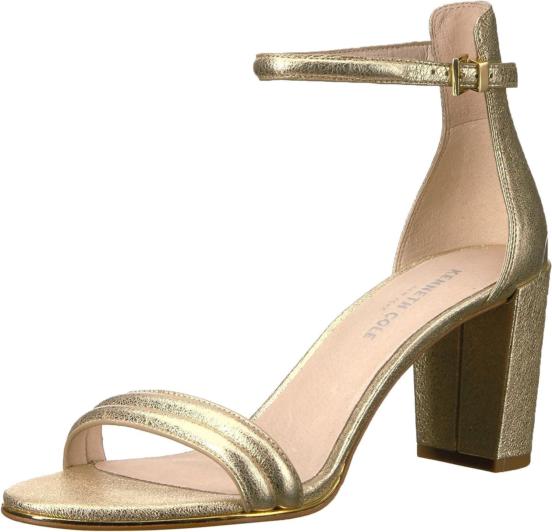 Kenneth Cole New York Womens Lex Strappy Block Heel Sandal Leather Dress Sandal