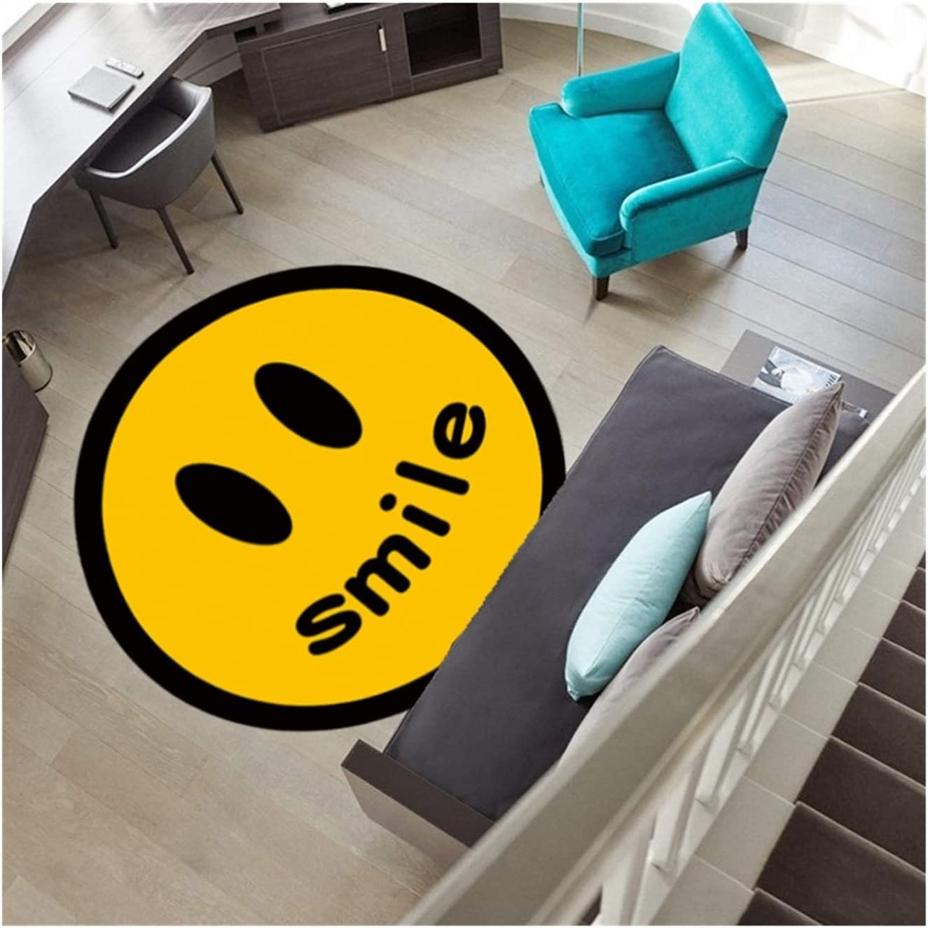 YNX Ranking TOP11 MLKCL Black and White Daisy Mat Sunflower Rug free shipping R Floor Smiley