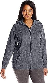 Just My Size Women's Plus-Size Full Zip Fleece Hoodie