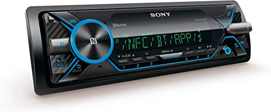 Sony DSX-A416BT - Reproductor multimedia para coche (Bluetooth, NFC, control por voz), Negro/Azul