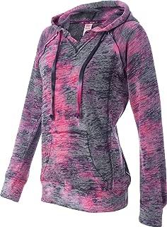 MV Sport W1162 Women's Courtney Burnout V-Notch Sweatshirt