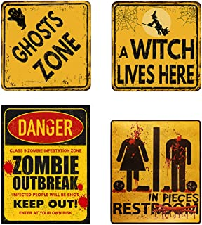 Bloody Restroom Sign Sticker - Halloween, Haunted House and Horror Themed Parties Bathroom Door Decoration - Removable, St...