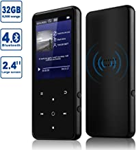 $45 » MP3 Player, Alptory 32GB MP3 Player with Bluetooth 4.0,Portable Sports Music Player 2.4'' Screen Built-in Speaker with Voice Recorder,FM Radio,Text Reading, HiFi Lossless Sound