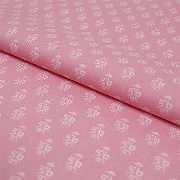 Baumwollstoff Streublümchen weiß flieder Modestoff Preis=0,5m