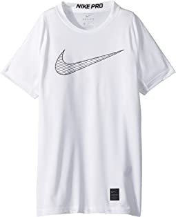 69b87b43c3c2 White White Black Black. 34. Nike Kids. Pro Fitted Short Sleeve Training Top  (Little ...