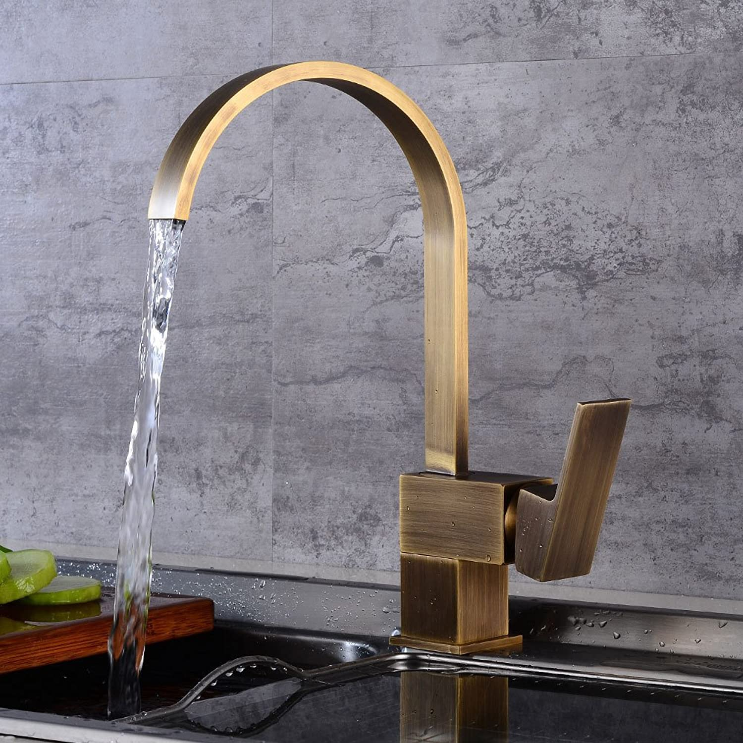 European Antique Hot and Cold Dish Faucet redary Sink Dish Faucet