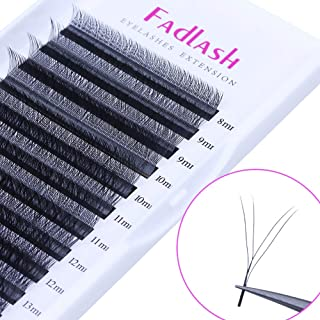 Volume Lash Extensions YY Shape Weave C Curl 0.07mm 13mm Matte Rapid Blooming Eyelash Extensions Knot-free by FADLASH