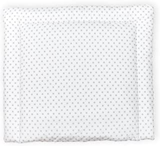 Baby Wickelauflage Supersoft 72x85 cm mit ÖkoTex Wickeltisch Dots grey//ecru