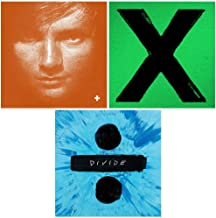 Ed Sheeran: Complete Studio Album Discography - 3 Vinyl Records (Includes Limited Edition 'Plus' Orange Vinyl + Deluxe Edition 'Divide