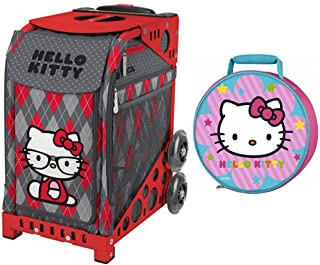 ZUCA Hello Kitty Geek Chic Bag & Red Frame with Thermos Hello Kitty Lunch Kit
