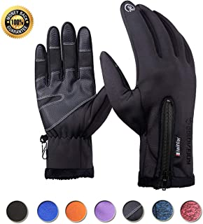Achiou Touchscreen Winter Gloves for Warm iPhone iPad Bicycling Cycling Driving Anti-Slip Gloves Running Hiking Climbing Skiing Outdoor Sports for Men Women