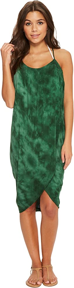Green Dragon Crystal Forest Genevieve Wrap Dress