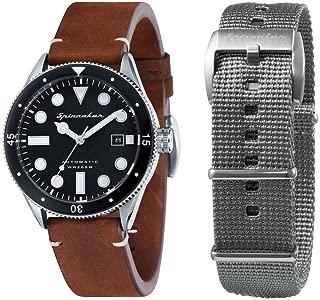 Mens Cahill Vintage Diver Watch - Brown/Black