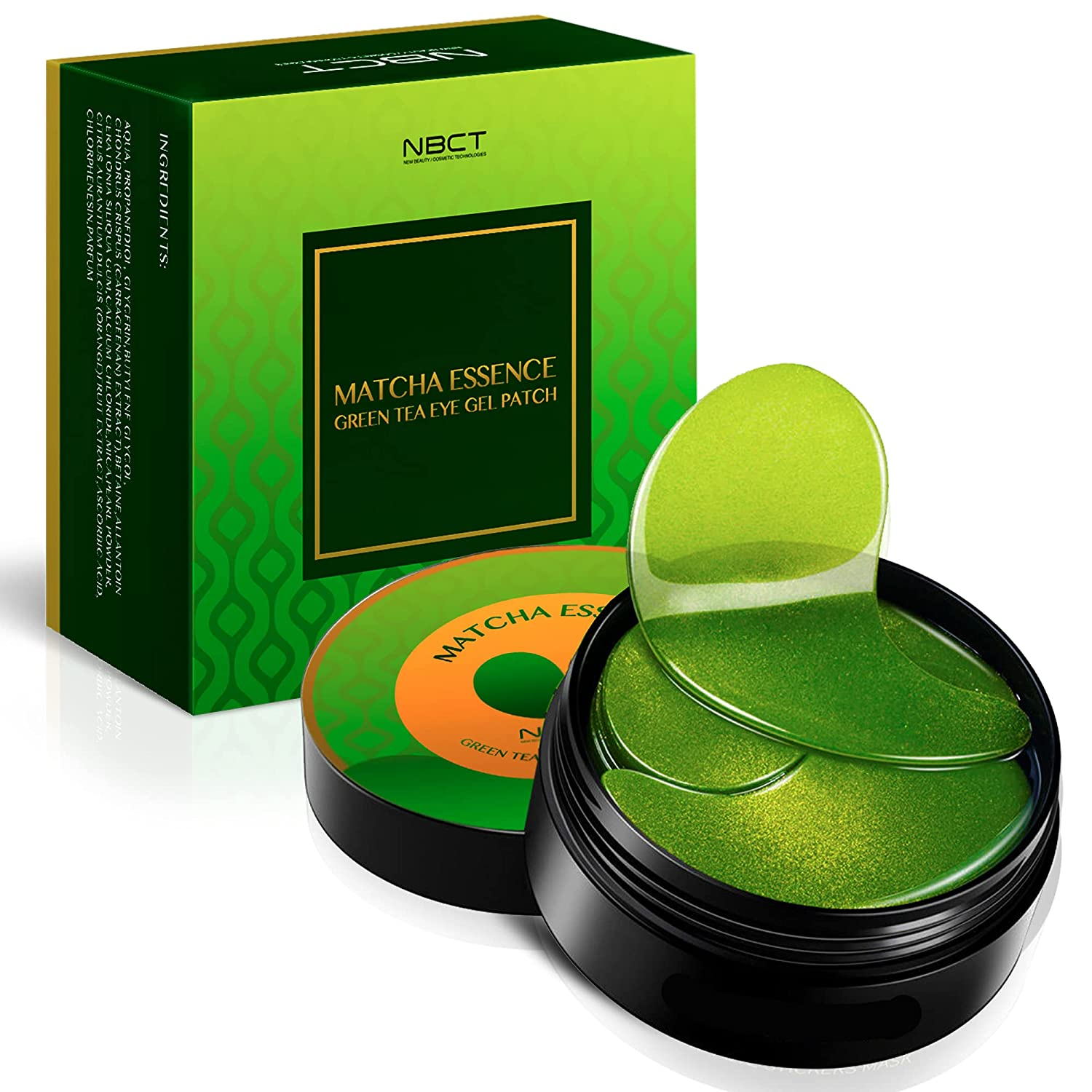 Spring new work one NEW after another Collagen Eye Mask Matcha Green Extract Tea Under Patches E