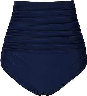 Women's Swim Shorts High Waist Ruched Bikini Bottom Swim Brief