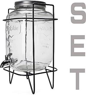 ヨークシャー メイソンジャー ドリンクディスペンサー ホルダーセット Yorkshire Mason Jar Drink Dispenser Holder Set