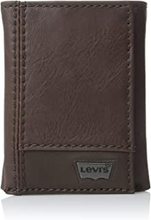 Levi's Mens Trifold Two-Tone Wallet, Brown, One Size