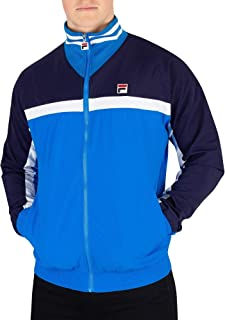 Fila Men's Diego Panelled Track Jacket, Blue