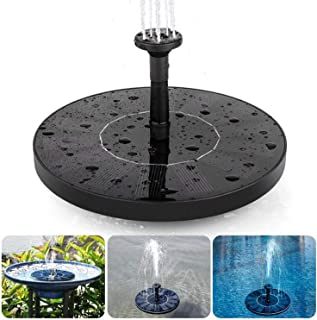 Solar Fountain Pump, ieGeek Solar Birdbath Fountain Panel Kit, Free Standing Solar Outdoor Fountain for Small Pond, Garden...