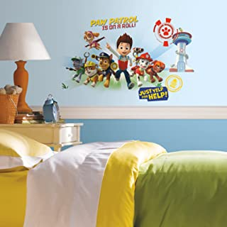 RoomMates RMK2641GM Paw Patrol Wall Graphix Peel And Stick Giant Wall Decals,Multicolor