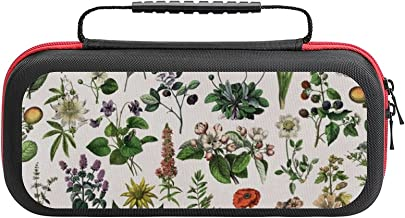 $26 » Vintage Botanical Print Case Compatible with Switch Case Protective Carry Bag Hard Shell Storage Bag Portable Travel Case ...