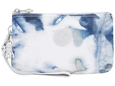 Kipling Creativity XL Pouch (Tie-Dye Blue) Clutch Handbags