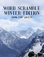 Word Scramble Winter Edition Book For Adults: Large Print Wintertide Puzzle With Solution
