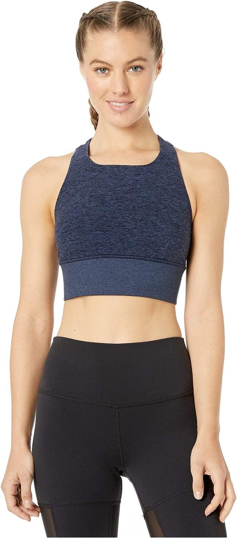 Alo Yoga Damen AloSoft Serenty Bra Sport-BH, blau, EinheitsGröße