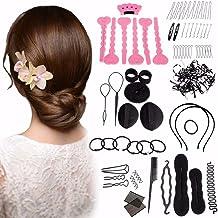 Hair Accessoriesn Kit, LuckyFine Magic Hair Styling Clip Pads Foam Sponge Hairpins Bun Donut Accessory Maker Tool
