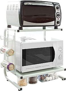 SoBuy® FRG092-W Étagères micro ondes de cuisine Mini-étagère Four Micro-ondes Meuble rangement cuisine de service