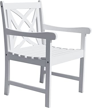Bradley Outdoor Garden Armchair in White