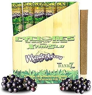 Cyclones Hemp Cone w// Wooden Tip 24PC DISP Sugar Cane