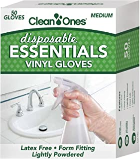 Clean ones Disposable Essentials Latex-free Vinyl Gloves (50)