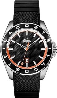 Lacoste Men's Black Dial Rubber Band Watch - 2010904