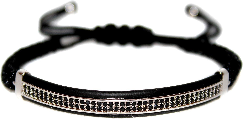 KOKOSHELL Royal King Crown Adjustable Bracelet 18kt Gold Silver Black Set Rhinestone Jewelry